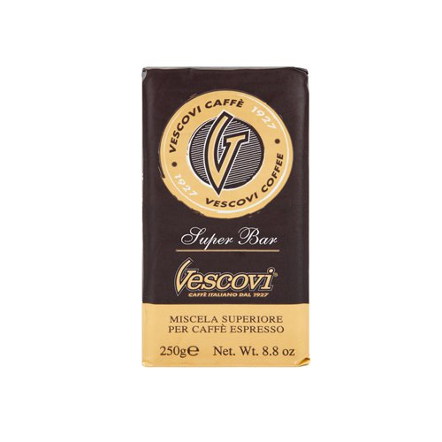 Кофе молотый Vescovi Супер Бар, вакуумная уп. 250 г