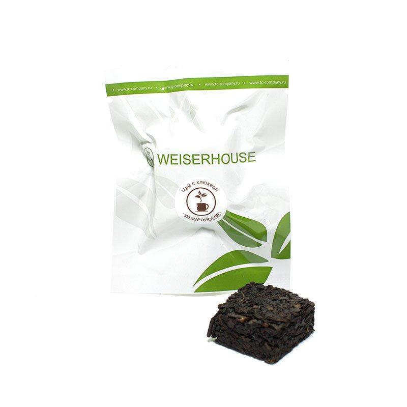 Чай черный с клюквой, прессованный в кубиках (5-7 гр.) в инд. упак.