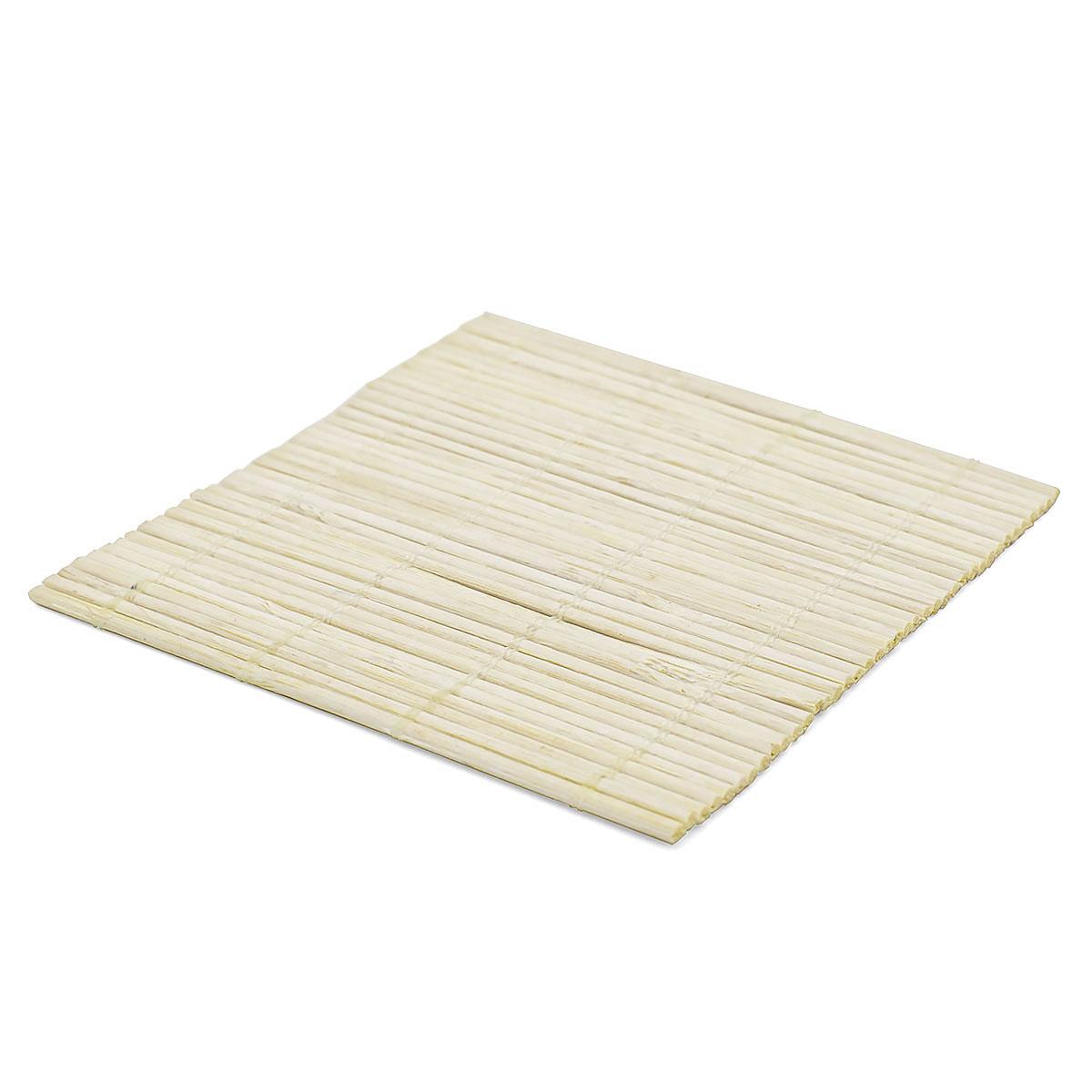Набор чайных циновок (бамбук), неокрашенные, 10 х 10 см, 5 шт/упак набор чайных циновок бамбук красные двухцветные 10 х 10 см 5 шт упак