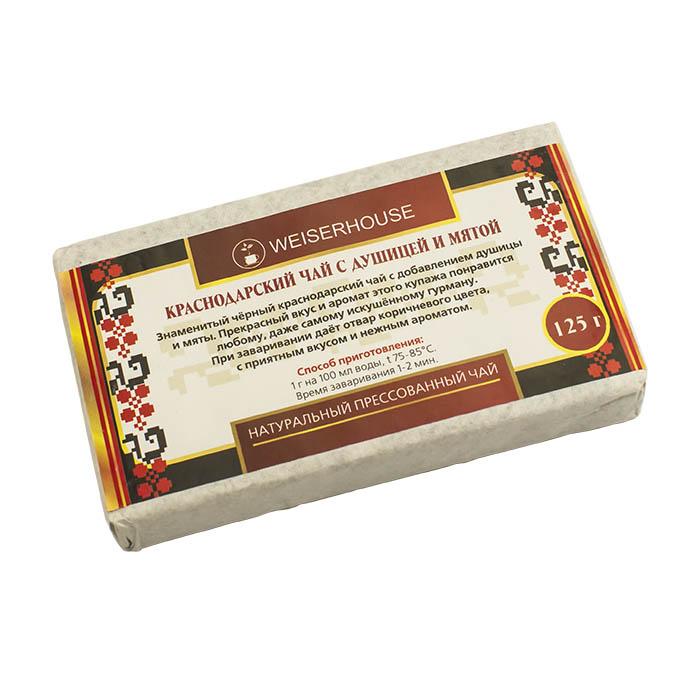 Краснодарский черный чай с душицей и мятой прессованный, 125 г