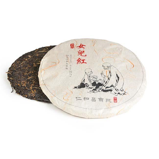 Купить со скидкой Чай красный Дянь Хун со старых деревьев, фабрика Юндэ Сюлинь, Линцан, 2015 г., блин, 357 г