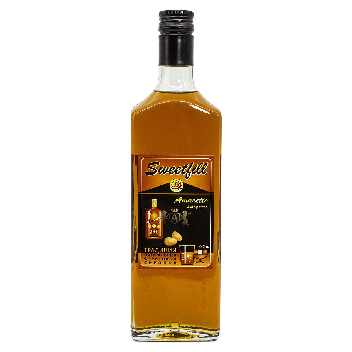 Сироп Sweetfill Амаретто, 0,5 л vedrenne карамель сироп 0 7 л
