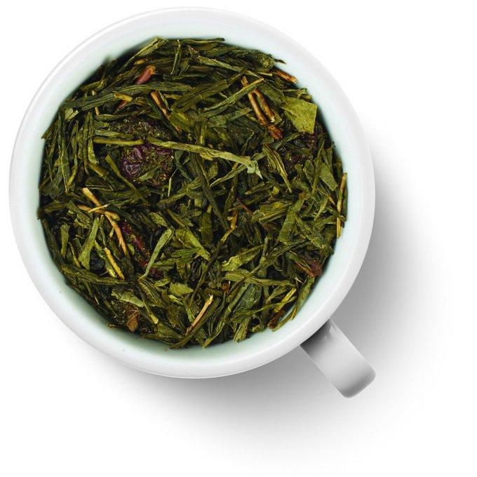 Зеленый ароматизированный чай Брусника