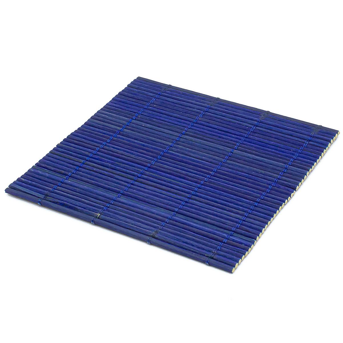 Набор чайных циновок (бамбук), синие, 10 х 10 см, 5 шт/упак