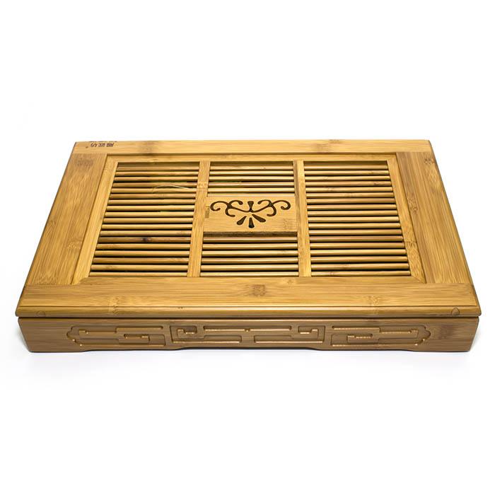 Чайный поднос (Чабань) из бамбука 45х29х6,8 см