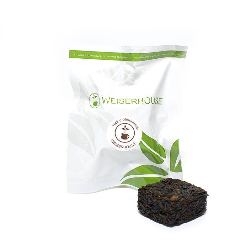 Черный чай с облепихой, прессованный в кубиках (5-7 гр.) в инд. упак.