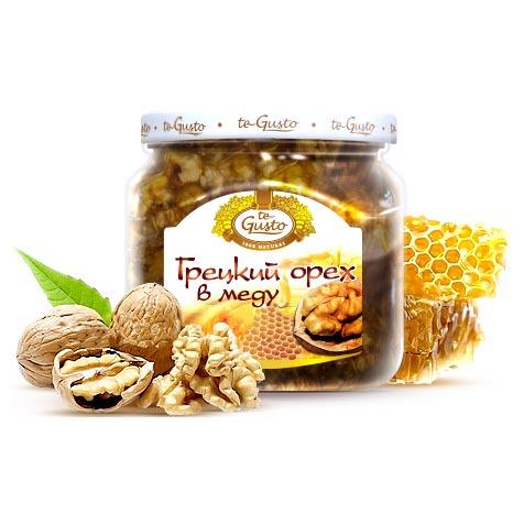 Грецкие орехи в меду Te-Gusto, 300 г