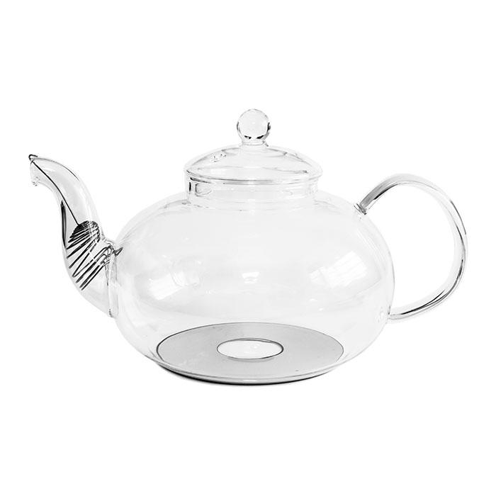 """Купить со скидкой Стеклянный заварочный чайник """"Смородина"""" с металлизированным дном, 1500 мл (уцененный товар)"""