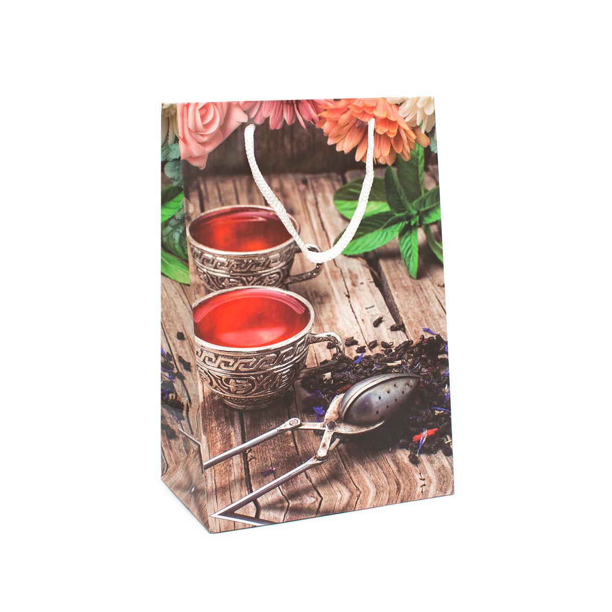 Фото - Пакет подарочный Любимый чай, 23*15 см пакет подарочный новогодние игрушки 23 15 см