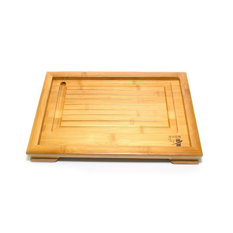 """Чайный поднос (Чабань) из бамбука """"Золото"""" 36х24х4 см"""