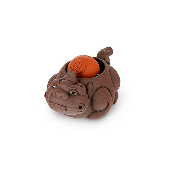 """Чайная фигурка из исинской глины """"Черепаха с шаром"""""""