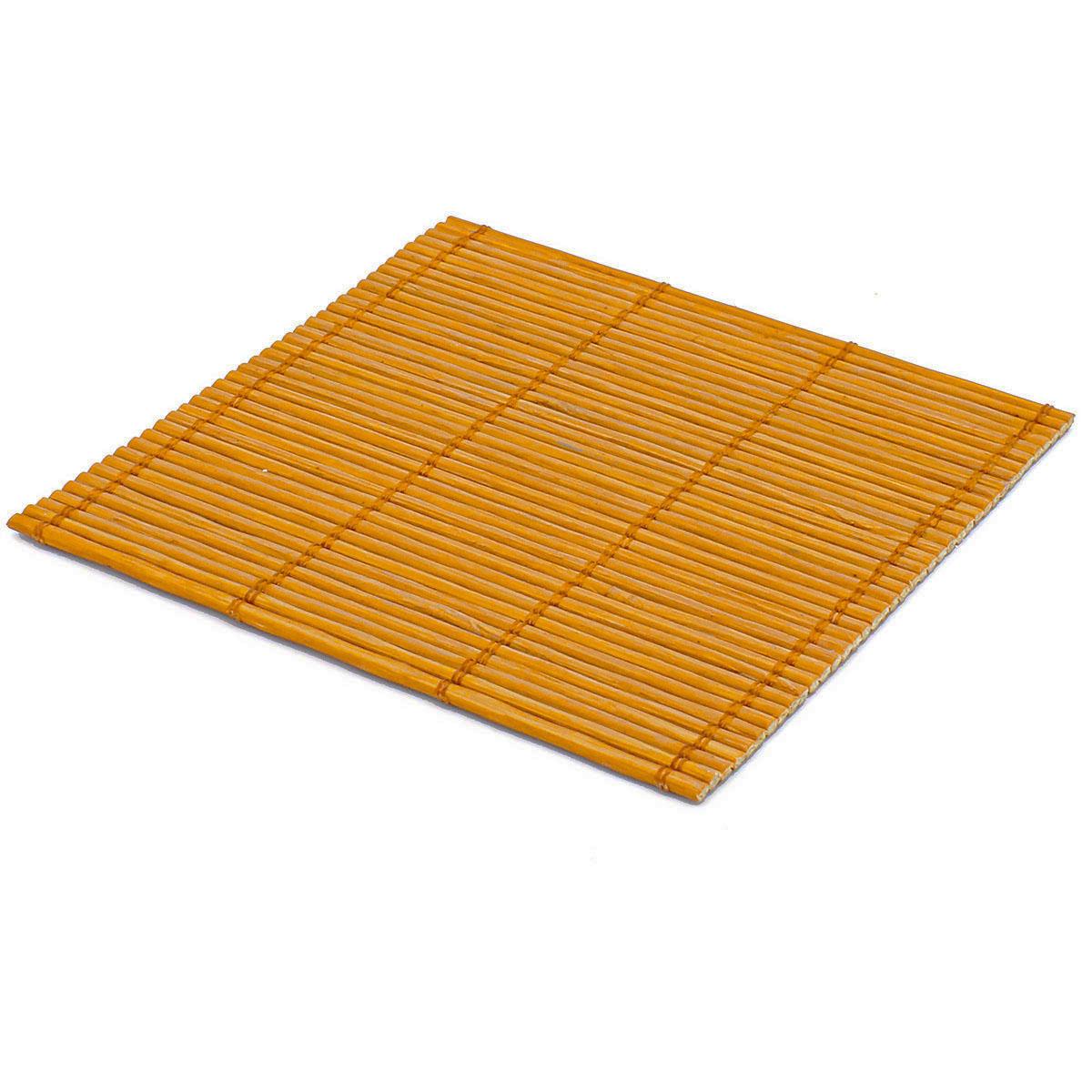 Набор чайных циновок (бамбук) оранжевые 10 х 10 см 5 шт/упак.