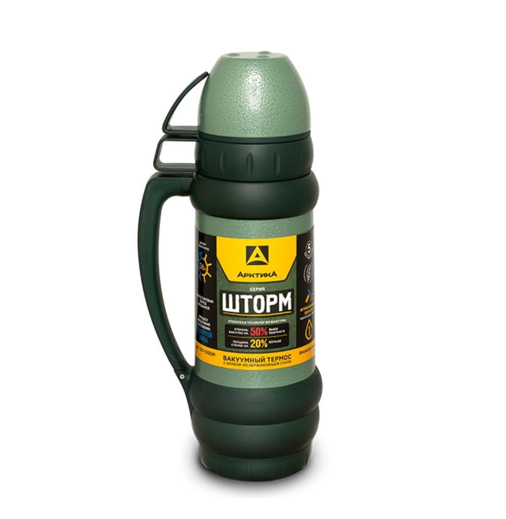 Термос для напитков Арктика 109-1000М (зеленый), 1000 мл