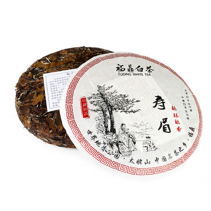 Белый чай Шоу Мей, фабрика Юкоу, Фудин, 2015 г., блин, 357 г от 101 Чай
