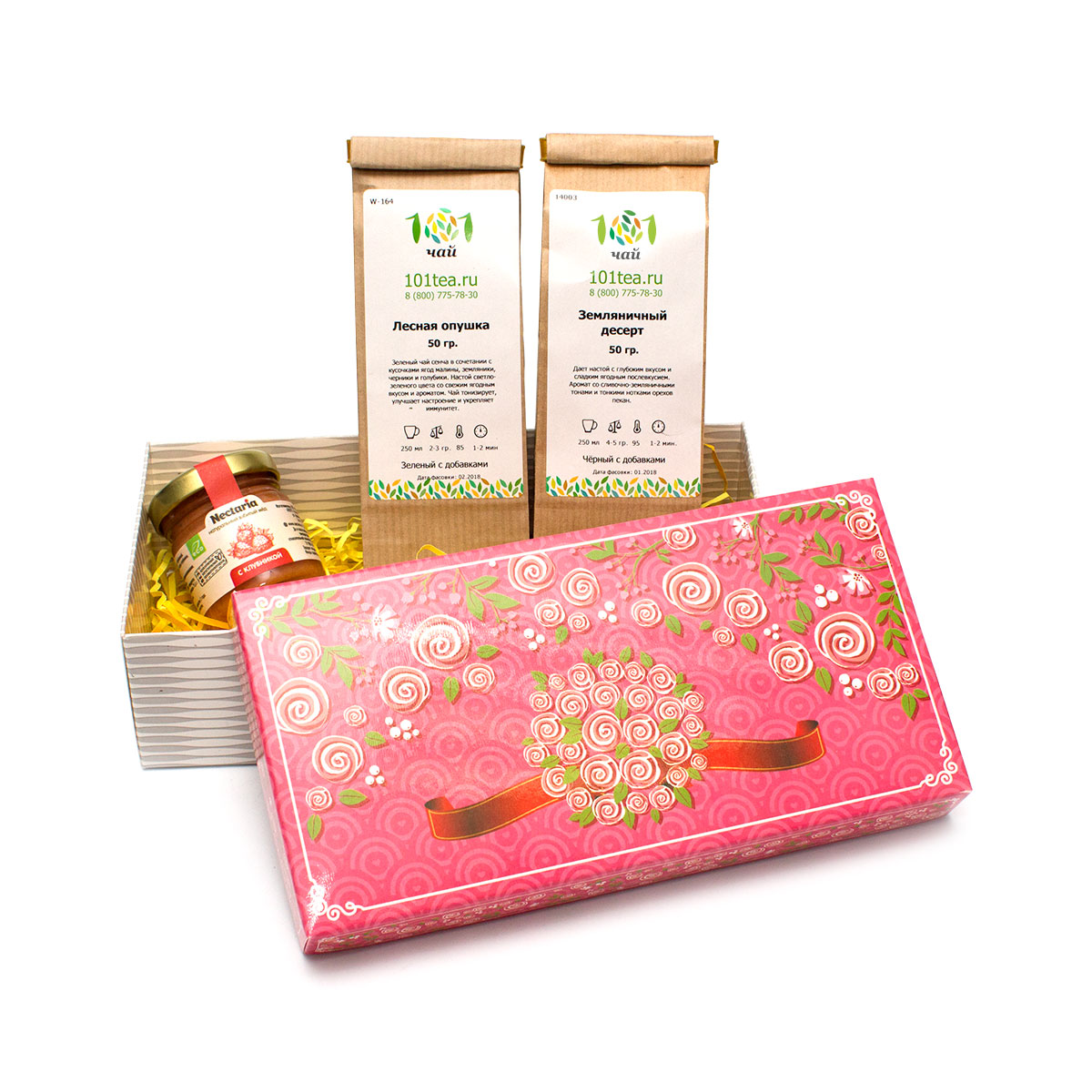 """Подарочный набор чая """"Земляничная поляна"""" от 101 Чай"""