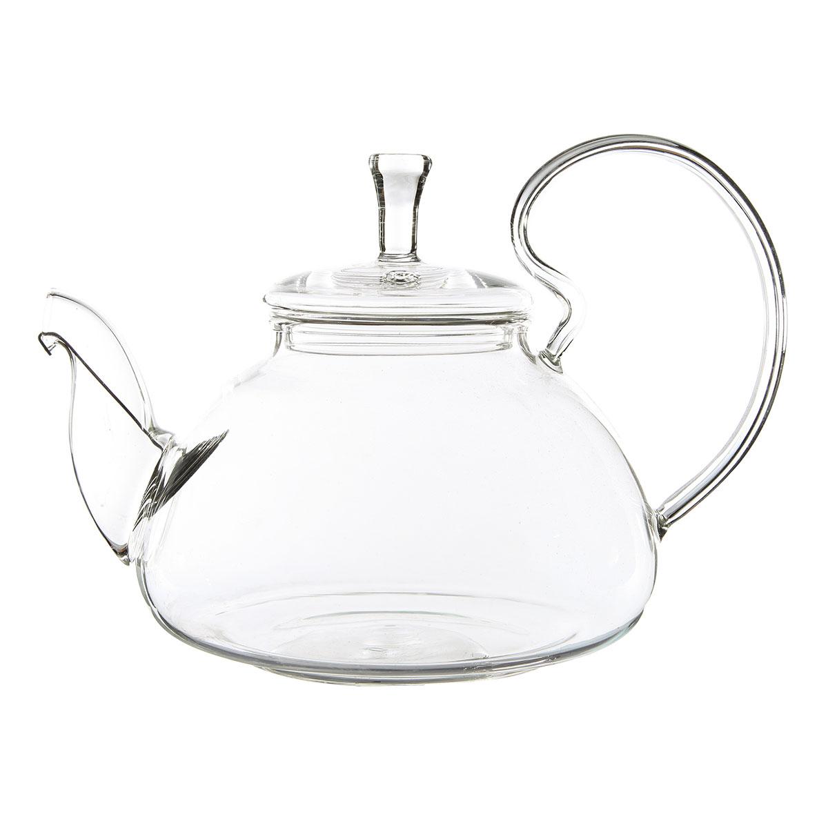 Стеклянный заварочный чайник Георгин, 670 мл (уцененный товар) чайник заварочный queen ruby с фильтром 500 мл qr 6039