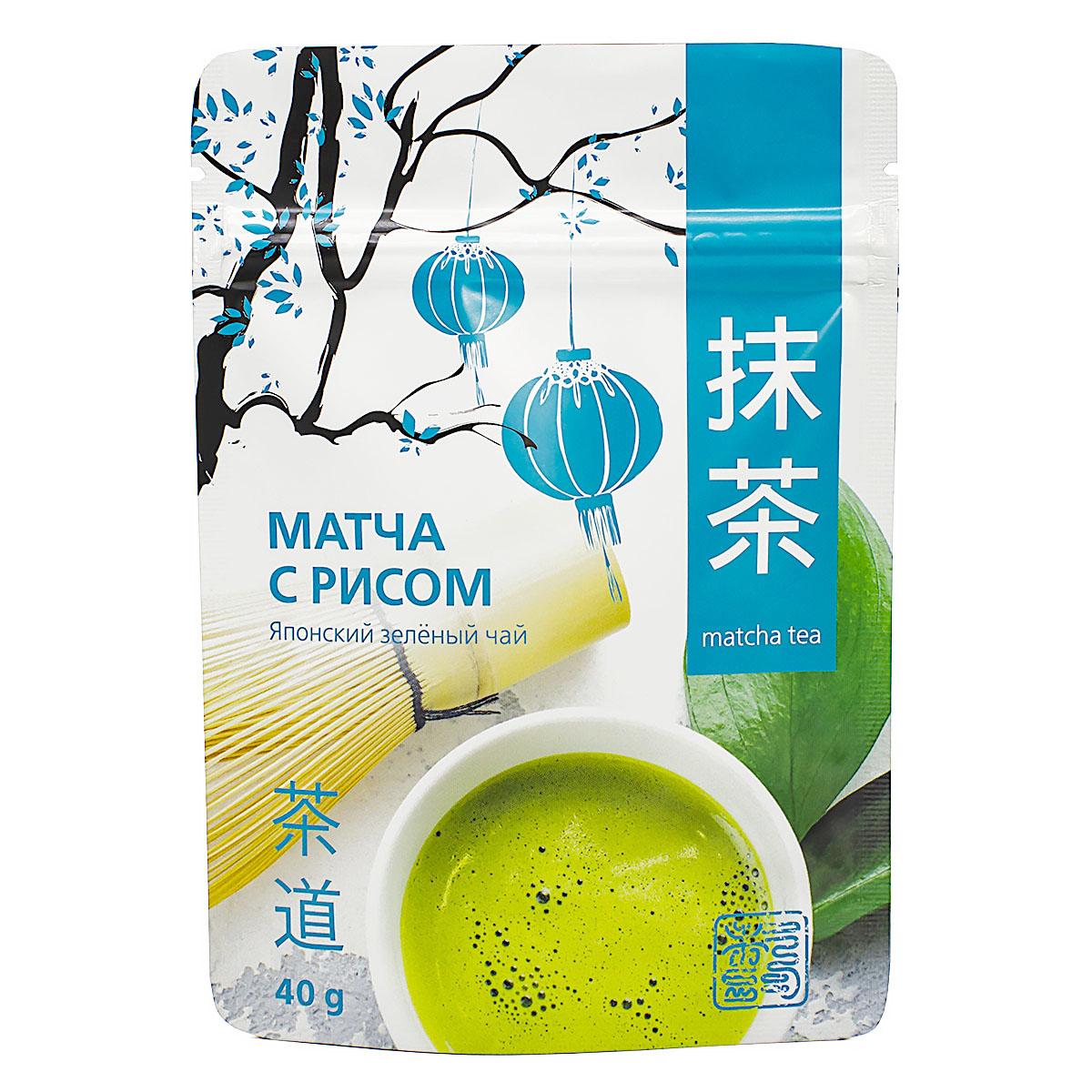 Чай зеленый Матча с коричневым рисом, 40 гр