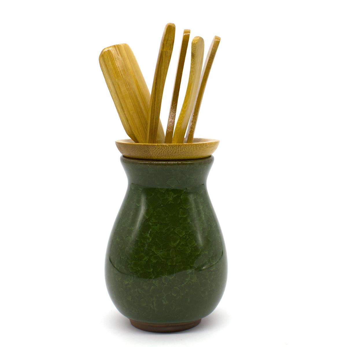 Инструменты для чайной церемонии Колотый лед, зеленый