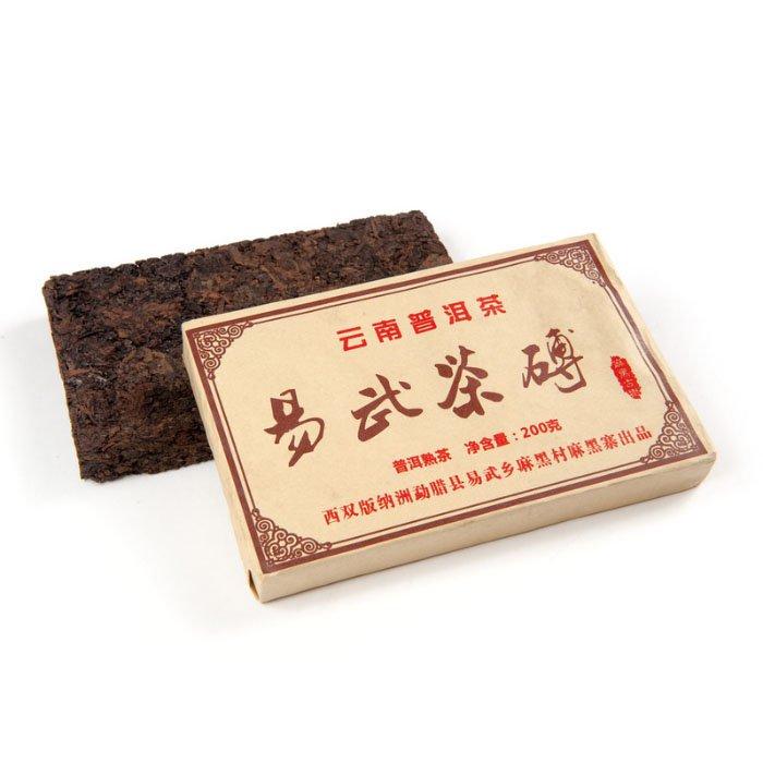 Шу Пуэр Старые Чайные Головы, фабрика Махейчжай, 2012 г., кирпич, 200 гр.