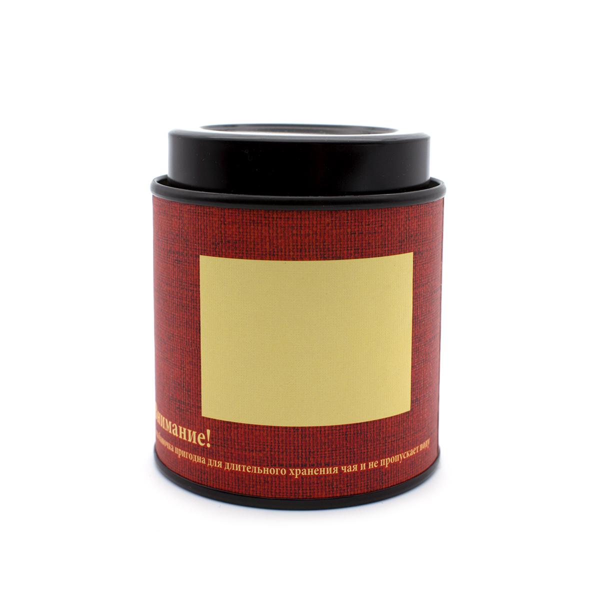 Банка картонная красная для хранения чая 77*90 банка картонная мелодия неба белый чай 76 175