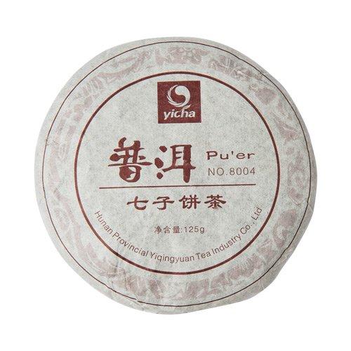Купить со скидкой Шу Пуэр, 8004, фабрика Хуннань Ти Компани, 2008 г., блин 125 г (уцененный товар)