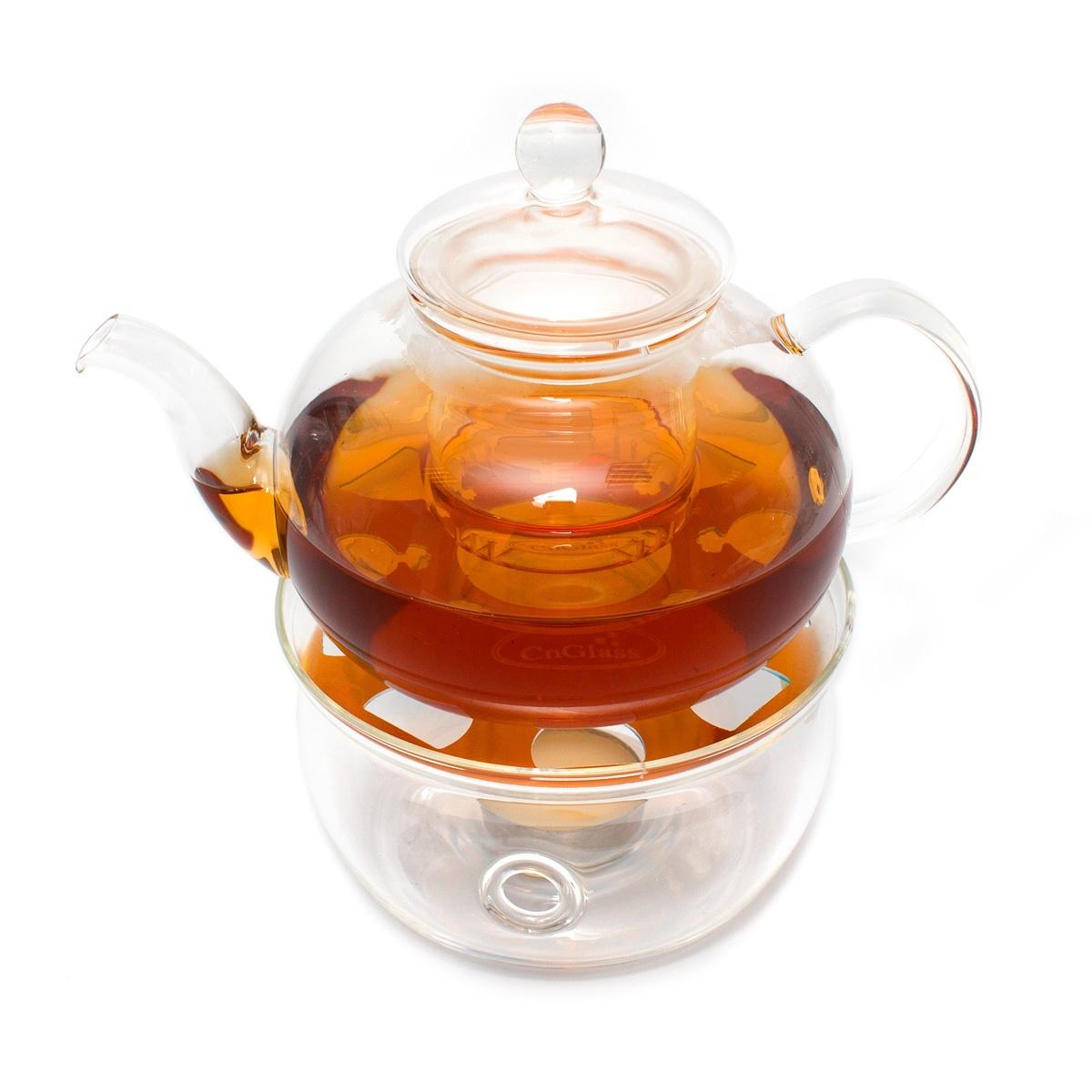 Набор: чайник Смородина малая 600 мл и подставка-подогреватель Канны