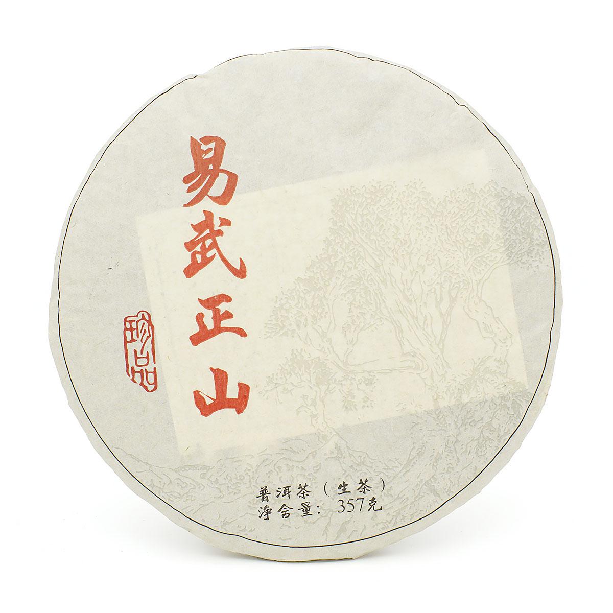 Шен Пуэр И У Чжен Шань, фабрика Цзин май, Юньнань, 2019 г, блин, 357 гр.