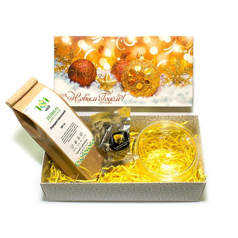 Новогодний подарочный набор №16 принцесса нури бергамот черный ароматизированный чай в пакетиках 25 шт