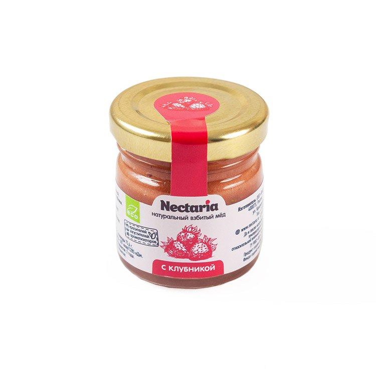 Крем-мёд Nectaria с клубникой, 40 г