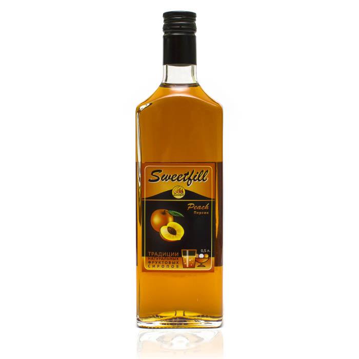 Купить со скидкой Сироп SweetFill Персик, 0,5 л (уцененный товар)
