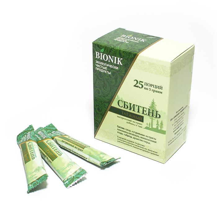 Сахар Сбитень Таежный в стиках (упаковка 25 шт. х 5 г)