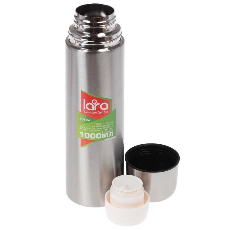 Термос из нержавеющей стали LARA LR04-06, 1000 мл run europe чжэ модернизировано из нержавеющей стали стеллажи съемного накопителя слоя 4 хранения