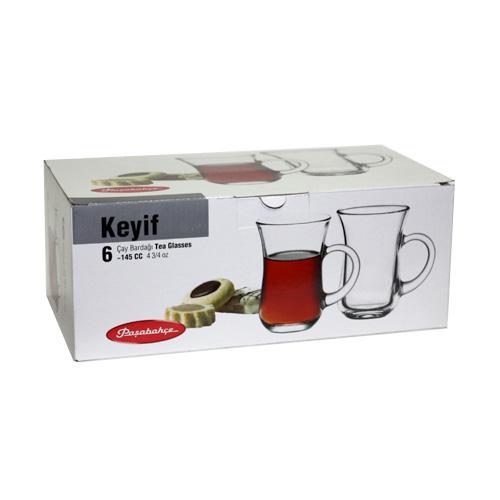 Набор стаканов с ручкой Tea&Coffee, 145 мл, 6 шт/упак набор стаканов для чая loraine 6 предметов 180 мл