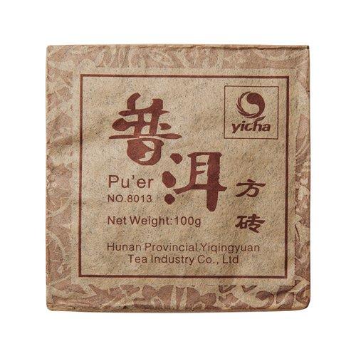 Шу Пуэр, 8013, фабрика Хуннань Ти Компани 2008 г., кирпич, 100 гр.