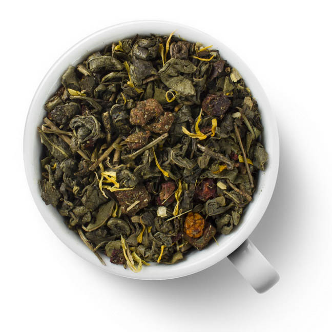 Зеленый ароматизированный чай Рябиновые бусы