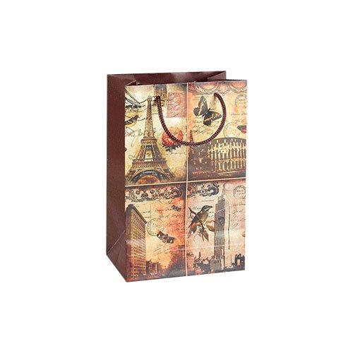 Фото - Пакет подарочный Романтика мегаполиса, 23*15 см пакет подарочный новогодние игрушки 23 15 см