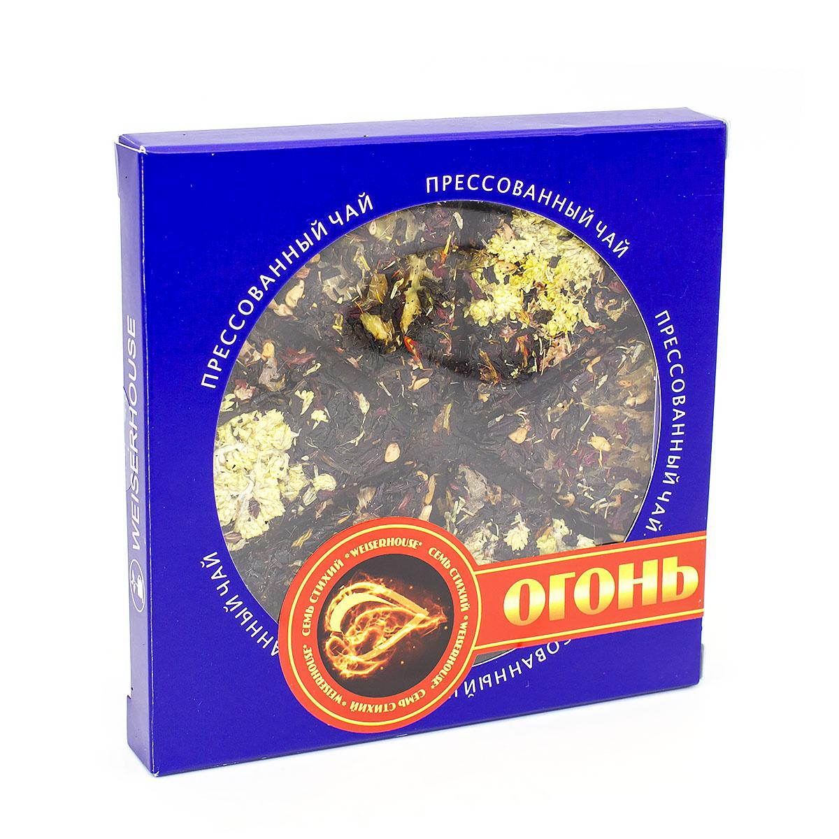 Фото - Чай чёрный с каркаде Огонь, прессованный, блин, 75 г чай чёрный вселенная прессованный блин 75 г
