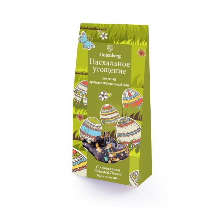 Зеленый ароматизированный чай Пасхальное угощение, уп. 100 г
