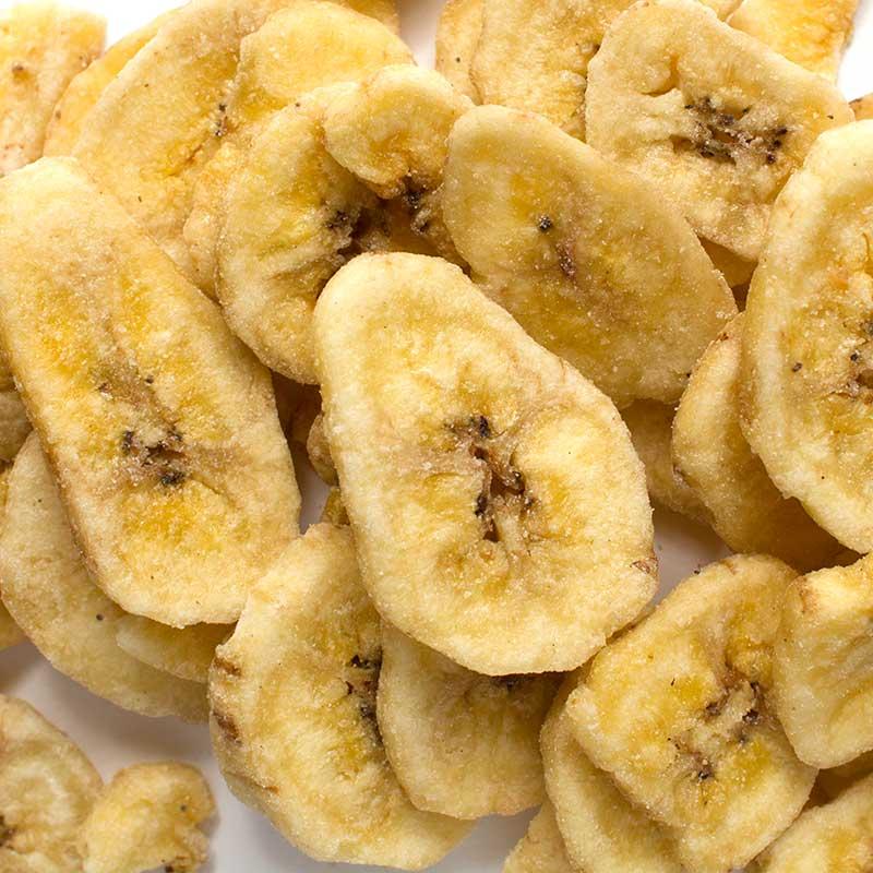 Чипсы банановые, 90 г пудовъ томаты сушеные резаные 100 г