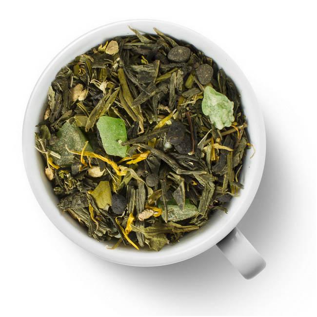 Зеленый ароматизированный чай Лайм и Женьшень от 101 Чай
