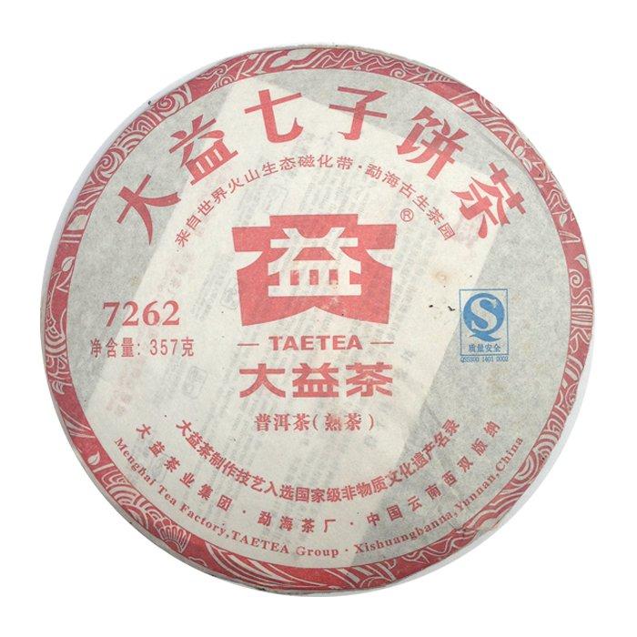 Шу пуэр, 7262, фабрика Менхай Даи, 2014 г, блин, 357 г
