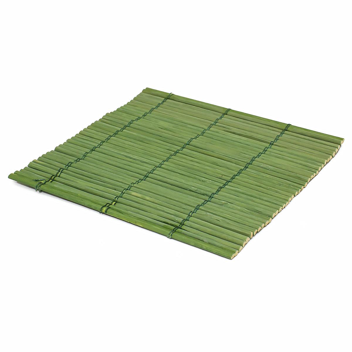 Набор чайных циновок (бамбук), зеленые, 10 х 10 см, 5 шт/упак