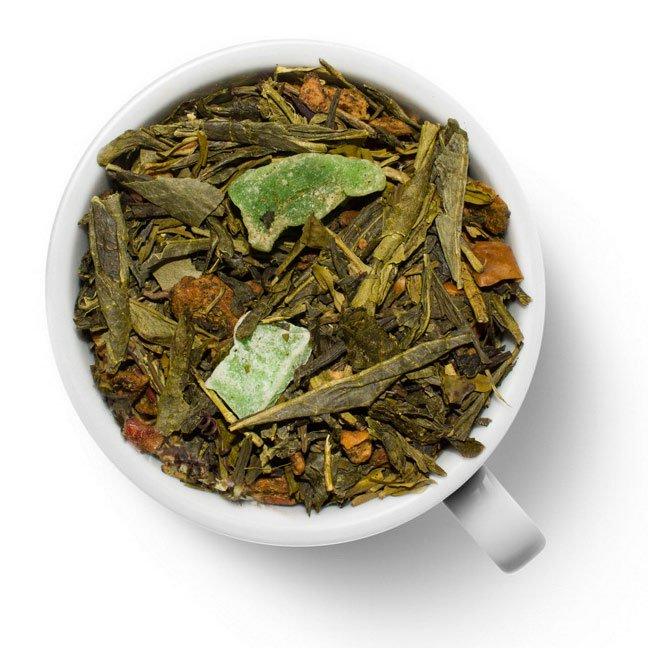 Зеленый ароматизированный чай Дикое яблоко
