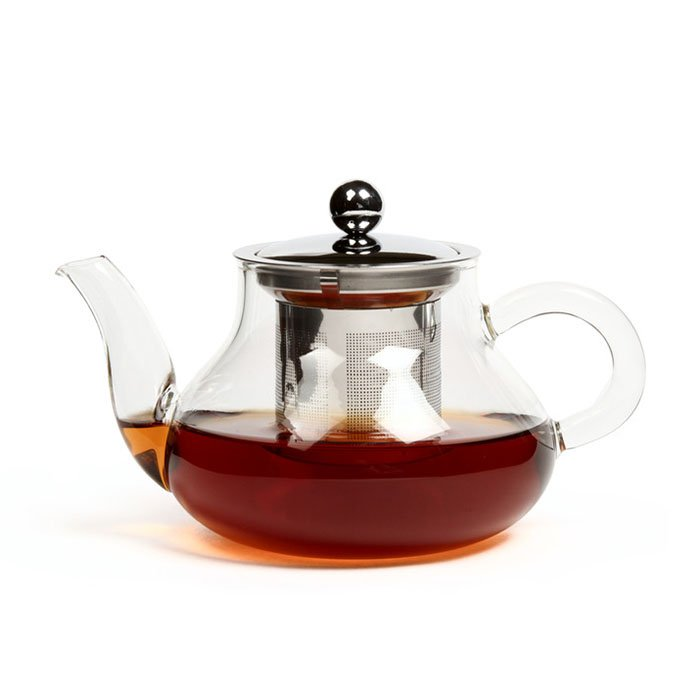 """Стеклянный заварочный чайник """"Годжи"""" с заварочной колбой из металла, 400 мл"""