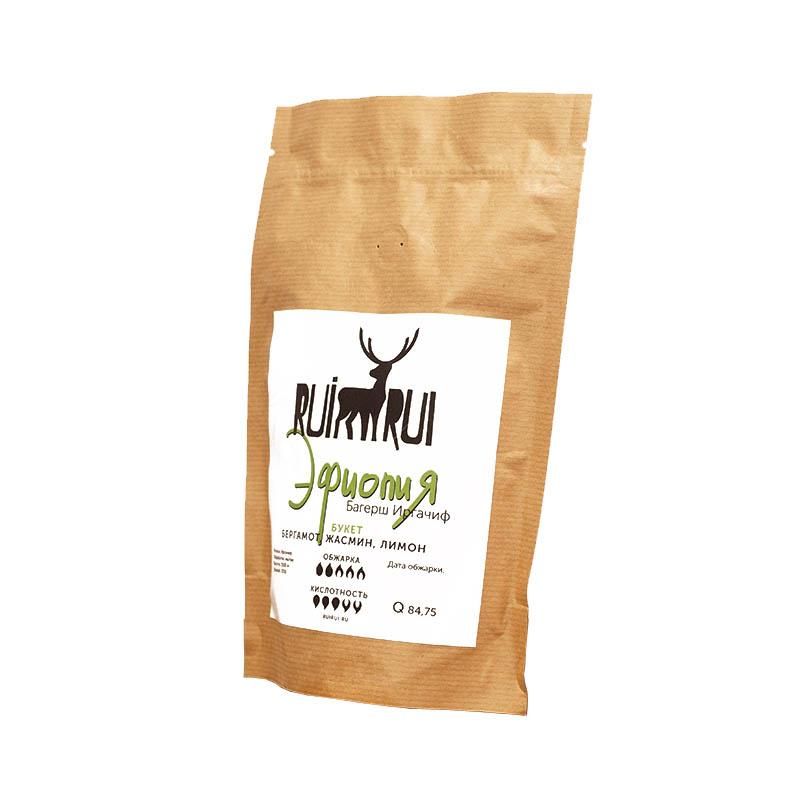 Кофе в зернах Эфиопия Багерш Иргачиф, уп. 250 г