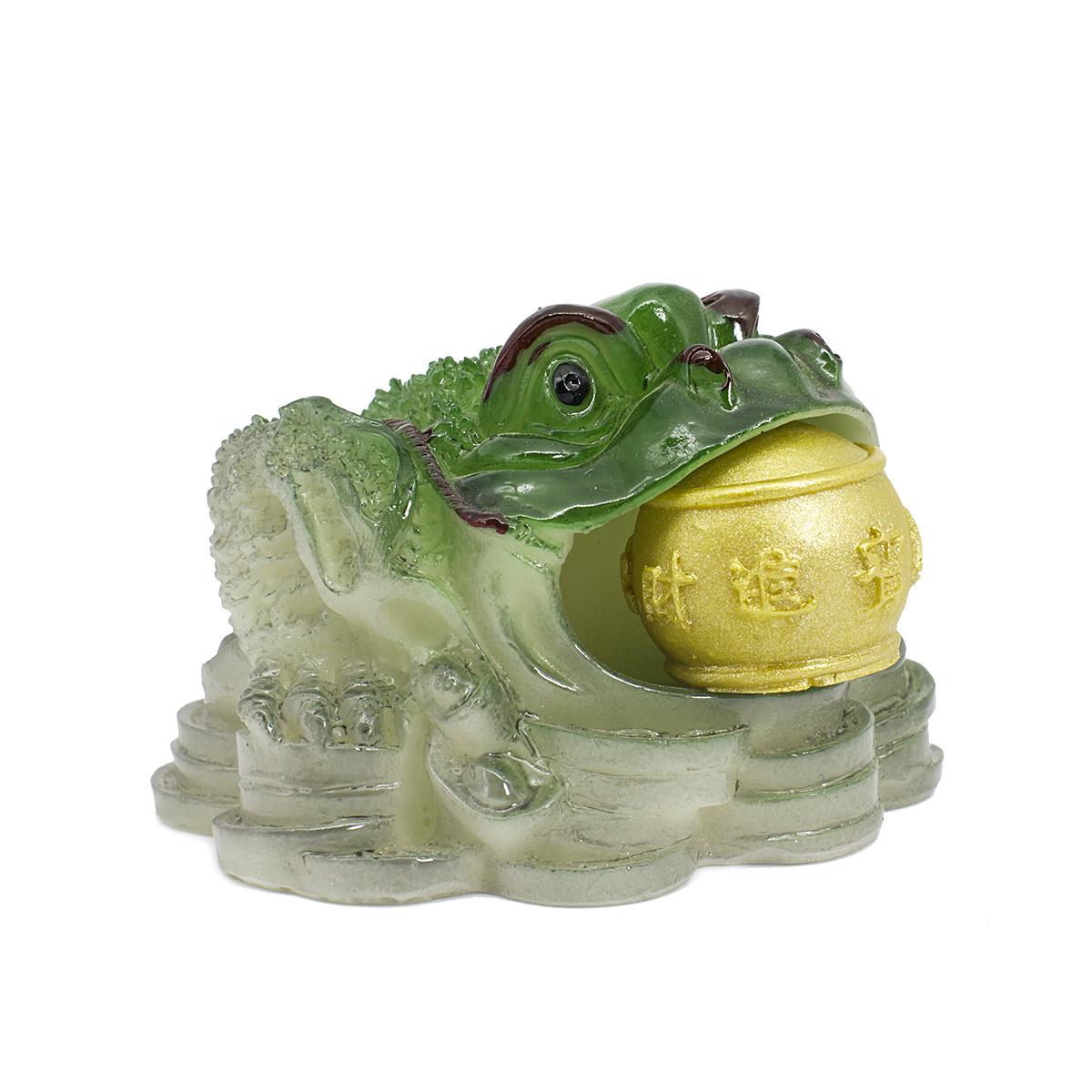 """Купить со скидкой Чайная фигурка, меняющая цвет """"Земляная жаба с шаром"""", 7,5 см"""