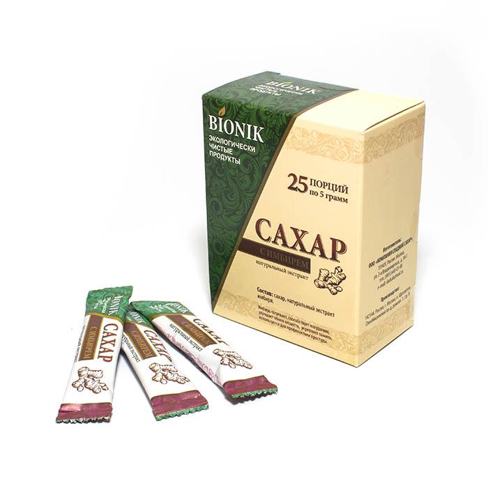 Сахар с имбирем в стиках (упаковка 25 шт х 5 г)
