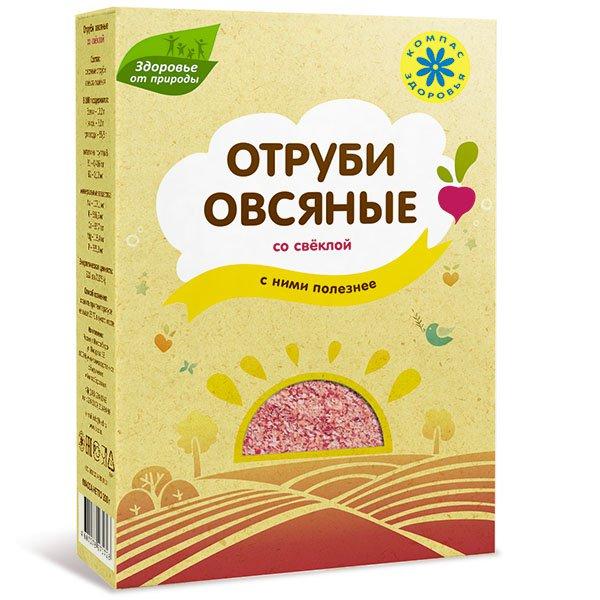 """Отруби овсяные со свеклой """"Компас Здоровья"""", 200 г от 101 Чай"""