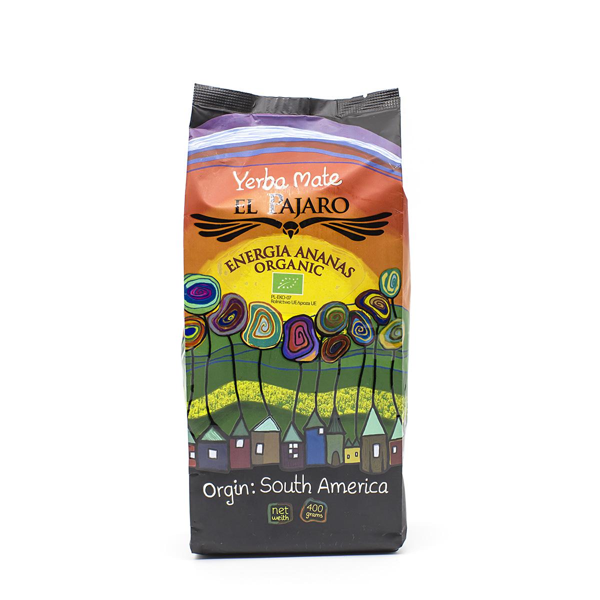Мате El Pajaro Energia Ananas BIO (Ананас БИО), 400 г мате cbse energia with guarana 500 г