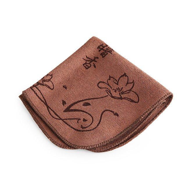"""Полотенце для чайной церемонии """"Благоухание цветка"""" 28 х 28 см (коричневое)"""